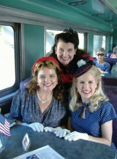 The Girls Next Door on Flag Troop Train